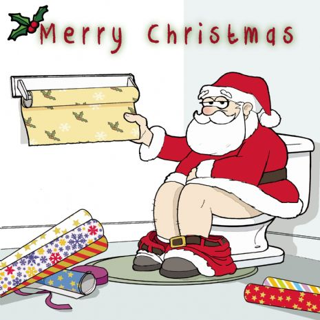 Santa Humour Christmas Card | Happy Christmas Cards | Twizler